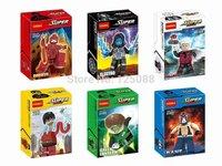 90pcs Decool 0192-0197 Building Block bricks Super Heroes Avengers Green lantern Daredevil Electro Flastic Man Bane Minifigures