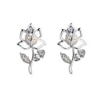 The trend of new arrival earrings Women austria crystal flower stud earring -