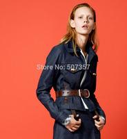 Wholesale Imports of all wild cowboy denim linen fabric,Navy, Dark blue , BY0007
