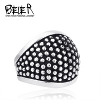 Size 7-13 Wholesale Fashion Man Woman Jewelry Gothic New 2015 Spot Ring 316L Stainless Steel Unique Ring BR2004