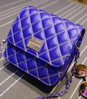 2015 New lady handbag, women's handbag brief style shoulder plaid bag All-match knitted bag chain bags  new hot bags