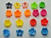 50 Assorted Plastic Flower Star Hair Claw Clip Clamp DIY for Kids