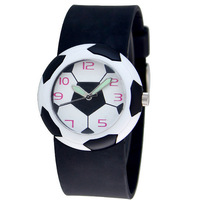 new High quality Free Shipping boy sports football watch, Quartz jelly watchBirthday Party Gift