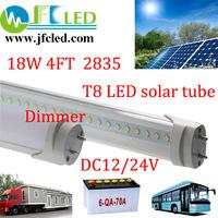 led tube t8 24v led SMD2835 solar tube 4pcs dimmable 1.2m bulb1700-1900lm 4ft 12v led tube led fluorescent tube 18w