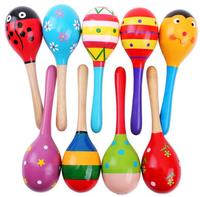 Trumpet player rattles sand hammer wooden toys children's educational toys 12cm