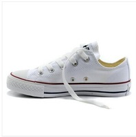 free shipping cheap price men and women canvas shoes with logo size 35-41 white color low without box