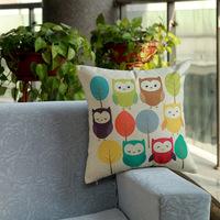 New design Home Decorative Sofa Cushion pillow cover Throw pillowcase 45*45cm dakimakura Cotton Linen Square colourful cute owl
