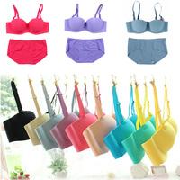 Sexy Lace bra brief set gathered Seamless underwear Woman push up bra set,brassiere lingerie set Wholesale Free Shipping