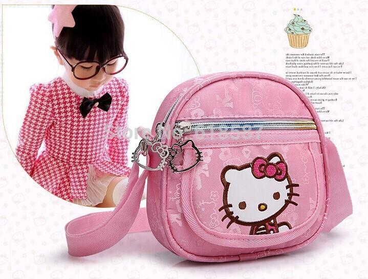New 2015 Lovely Baby Girls Hello Kitty Messenger Bag Children Small School Bag Mochila Infantil Kids Satchel Single Shoulder Bag(China (Mainland))