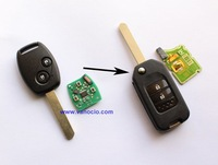 for Honda Odyssey , Fit , CRV (after 2008 year) 2 button improved flip remote key 433mhz with ID46 chip
