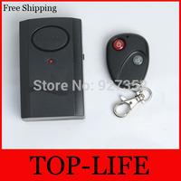 Free Shipping Home Security Wireless Remote Control Vibration Motorcycle Bike Door Window Detector Burglar Alarm