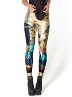 New Arrival Women 2013 Designed digital Printed milk vintage Egypt Pharaoh leggings free shipping B155