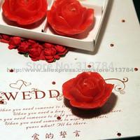 Originality stereo rose Candle Wedding Gift candle 4pcs/box