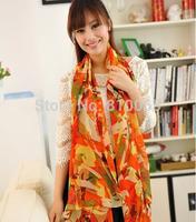 Korean style Women long silk scarf velvet chiffon scarf Lady Beach Shawl Turban towel Wrap Scarf 2 colors 150*60cm wholesale