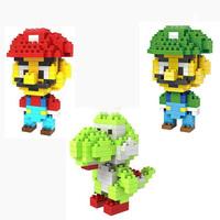 LOZ Super Mario Luigi Yoshi diamond blocks models building toys educational blocks children gift 3styles free shipping