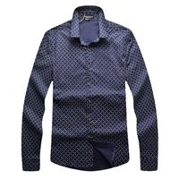2015 new men's casual long-sleeved shirt