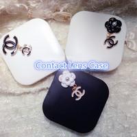 Promotion Fashion Design Travel Contact Lenses Case Box for Eyes Set Cleaning Holder Soak Storage