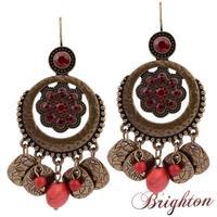 Fashion Ethnic Jewelry Classic Women Round Shape Hollow Flower Crystal Dangle Earrings Statement Earrings Bijoux