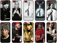 2015 New Arrival Free shipping Eminem Case White Plastic Hard Skin Cover For Apple iphone 5 5S 5G Case 10pcs/lot