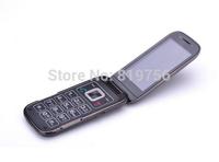 "New Unlocked Flip 3G senior phone Big button SOS emergency 3.2"" Screen GSM WCDMA mobile phones 5.0MP Camera MP4 FM free shipping"