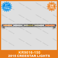 150W single row led offroad bar 30inch led work light bar KR9016-150 used for jeep suv atv
