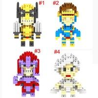 LOZ X-MEN Wolverine Storm Cyclops Magneto mini figure building Blocks Diamond bricks Toy Sets Child gift 12pcs/lot free shipping