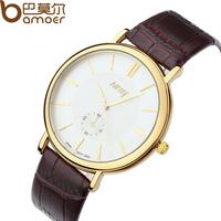 Nary Brand Leather Quartz Unisex Watch Analog Business Wristwatch Clock WA1108