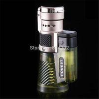 Triple Torch Cigarette Smoking Lighter Honest Jet Flame Butane Gas Cigar Lighter