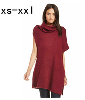 XS-XXL New Arrived Sweater Of Women Fashion Unique Asymmetrical Sweep Double-shoulder Placketing Plus Size Loose Long Sweater