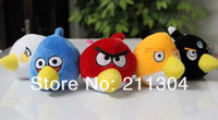 Hot selling 5pcs/lot 6x7cm plush crazy birds key chain, baby toys, funny toys for children, promotion gift,for kids peppa