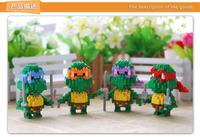 LOZ Teenage Mutant Ninja Turtles TMNT Raphael turtle brothers figure building Blocks Diamond bricks Toy gift 12pcs free shipping