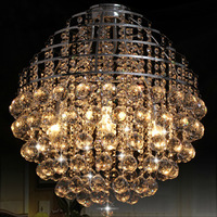 Free shipping,modern dining room crystal chandelier crystal globe pendant lamp