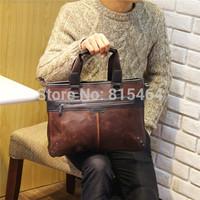 Hot sale vintage Crazy Horse leather man postman bag motorcycle designer brand men messenger bags casual shoulder bags for men