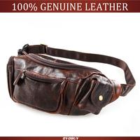 High quality mens waist bags 100% Cow Leather belt bags Sling Shoulder Bag Fanny Bags Waist Packs