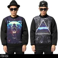 3D Harajuku design 2015 new fashion brand sweatshirt men clothing hip hop skateboard sport casual space cotton pullover