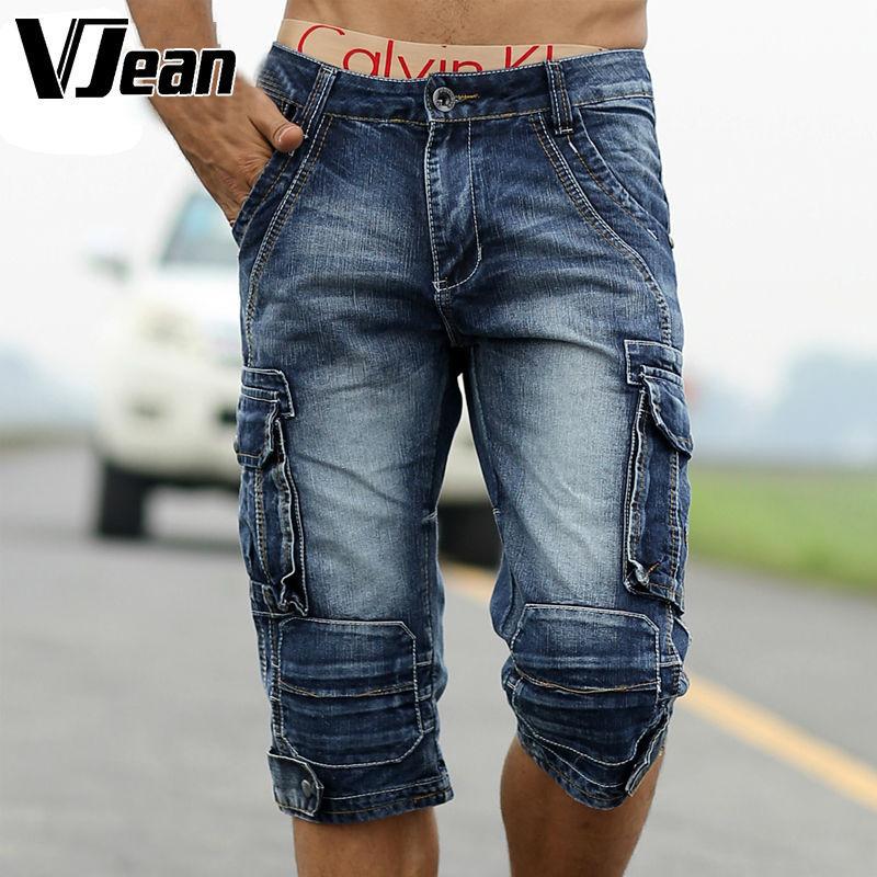 V JEAN Outdoor Man's Vintage Cut Off Jean Shorts #9C207(China (Mainland))
