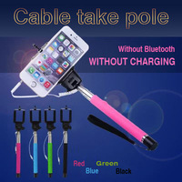 Profissional Grooves On Selfie Stick Mobile Phone Camera Selfie Tripod 1/4 Screw Extendable Portrait Handheld Selfie Monopod