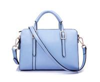 2015 women's fashion handbag pu leather cross-body candy color shoulder bag messenger bag women motorcycle bag