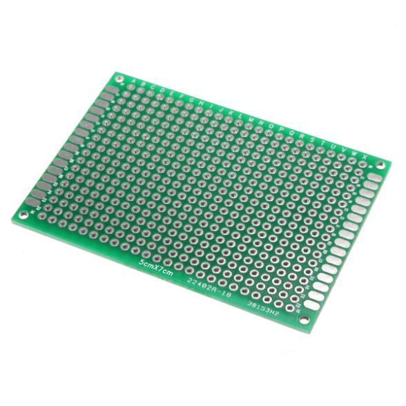 Двусторонняя PCB Imc 1 5x7cm PCB double side pcb плата fr4 a 18um 1 5 20 15