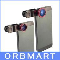 3 in 1 Fisheye Wide Angle Macro Camera Lens Photo Set for iPhone 4S 5 5S 5C 6 Plus Samsung Galaxy S5 S4 i9300 i9500 N7100 Note 3