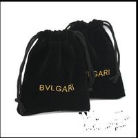on sale, 10pcs/lot , 8*10 cm,square shape,   B -brand  jewelry  black  color pouches