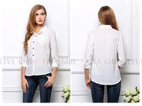 new causual women's wear,girls solid long sleeve chiffon blouse,women shirt, free shipping