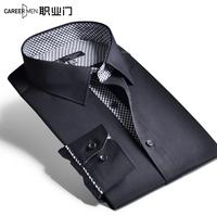 2014 100% male autumn cotton long-sleeve shirt business formal slim shirt