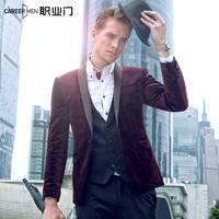 Casual male suit outerwear slim blazer bridegroom unique formal dress suit