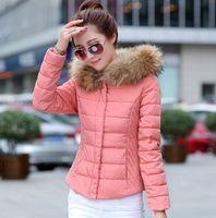 Commuting women short down cotton ladies slim hooded Mianfu winter cotton padded coat