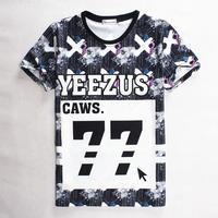 [Magic] summer Fashion t-shirt Men/Women Doubt and letters 77 print short-sleeve casual 3d t shirt harajuku top tees S-XL 1863