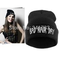 bad hair day hip hop beanie women winter hat,fashion 18 colors knit womens hats touca beanie,bonnet femme,gorros invierno,CFl