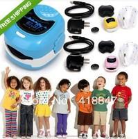 (2pcs/lot) CMS50QB LED Display Handheld Pediatric Fingertip Blood Oxygen Pulse Oximeter For Child 3 Colors Choice