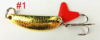 fishing pesca soft bait spoon lure 4cm 5.7g 6# hooks spinner tackle hard bait lures trolling one 80pcs swim bait fishing spoon