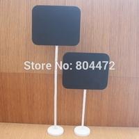 (500 pieces/lot) Medium SIZE Wholesale 9x11cm Wedding chalkboard on stick Stand Place Holder